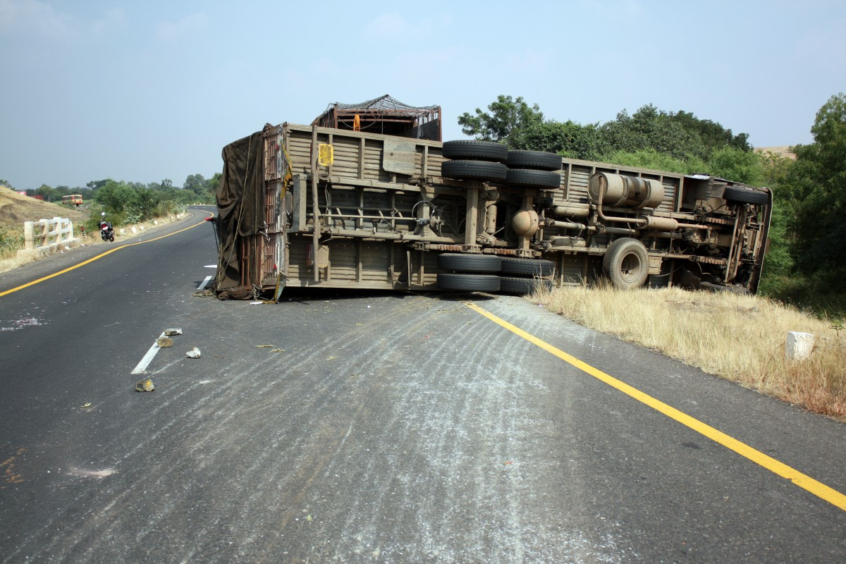 Did Speeding and Distraction Cause a Fiery I-40 Truck Accident?
